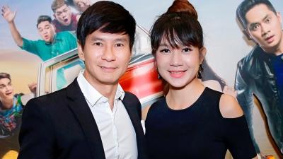 Vợ chồng Lý Hải - Minh Hà tình tứ bên nhau tại sự kiện ra mắt phim Lộ Mặt