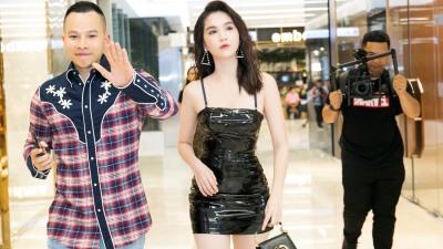 Ngọc Trinh mặc chất chơi dự sự kiện cùng 'ông bầu' Vũ Khắc Tiệp