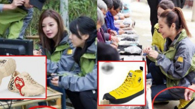 Làm từ thiện, Triệu Vy bị soi đi giày hiệu đắt gấp 10 lần giày của Lâm Tâm Như