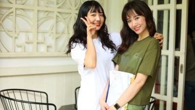 Hari Won tận tình dạy em gái diễn xuất trong lần đầu đóng phim