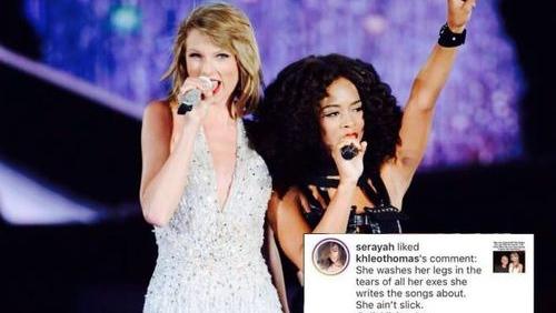 Fan US-UK xôn xao điều gì: Taylor Swift bị cô bạn 'đã từng thân'… like bình luận đá đểu