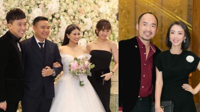 Vợ chồng Trấn Thành - Hari Won, Tiến Luật - Thu Trang và dàn sao dự đám cưới đạo diễn Cua lại vợ bầu