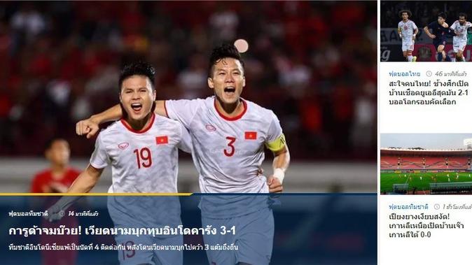 Báo Thái Lan ngả mũ, đưa Việt Nam 'nổi nhất trang chủ' thay vì chiến thắng của đội nhà