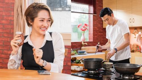 Quen nhau 7 năm, lầu đầu tiên Quốc Trường vào bếp nấu ăn cho Bảo Anh