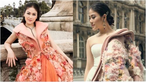 Hoa hậu Áo dài Tuyết Nga hoá quý cô thời thượng ở Paris
