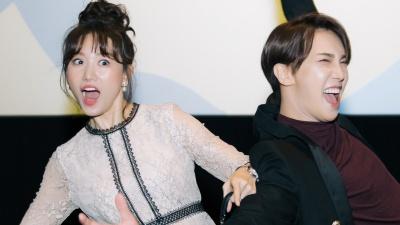 Hari Won và Park Jung Min thân thiết, tái hiện lại màn tạo dáng 'khó đỡ' trên poster phim khiến fan 'cười ngất'