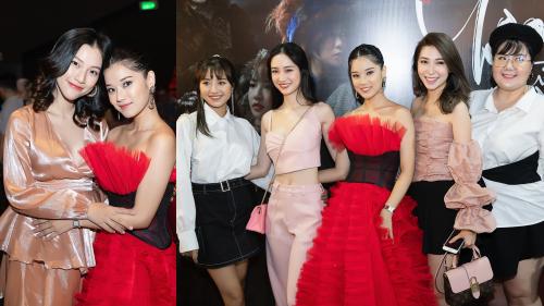Hoàng Oanh vác bụng bầu, cùng nhóm Ngựa Hoang đến chúc mừng Hoàng Yến Chibi ra mắt MV