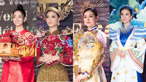 Lương Thuỳ Linh, Tường San cùng dàn mỹ nhân Việt 'kết' năm bằng màn trình diễn quốc phục ấn tượng