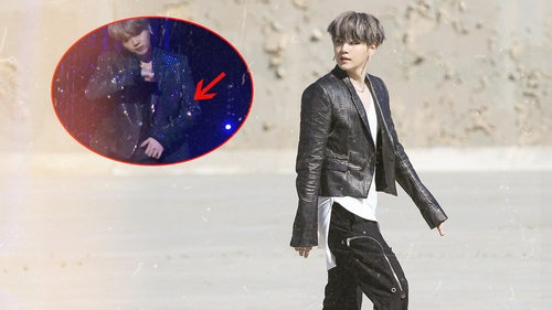 Fan xót xa Suga (BTS) tái phát vết thương cũ, khó khăn thực hiện vũ đạo 'Black Swan' trên sân khấu