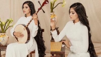 Trương Thị May gây ngỡ ngàng với mái tóc dài gần tới gót chân