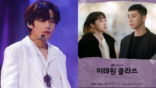 Với sức hút của bản OST 'Sweet Night' (Itaewon Class), kỉ lục iTunes Mỹ tiếp tục gọi tên V (BTS)