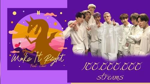 Không cần quảng bá, ca khúc b-side Make It Right phiên bản kết hợp cùng Lauv của BTS vẫn 'tằng tằng' cán mốc 100 triệu lượt stream