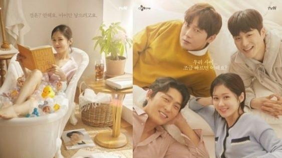 'Oh My Baby' của Jang Nara tung poster, đoạn clip quay quá trình làm teaser: Jang Nara trẻ đẹp không tì vết bên cạnh ba mỹ nam