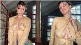 Chóng mặt khi Bella Hadid diện áo sơ mi bung nút 'phô ngực' đầy gợi cảm