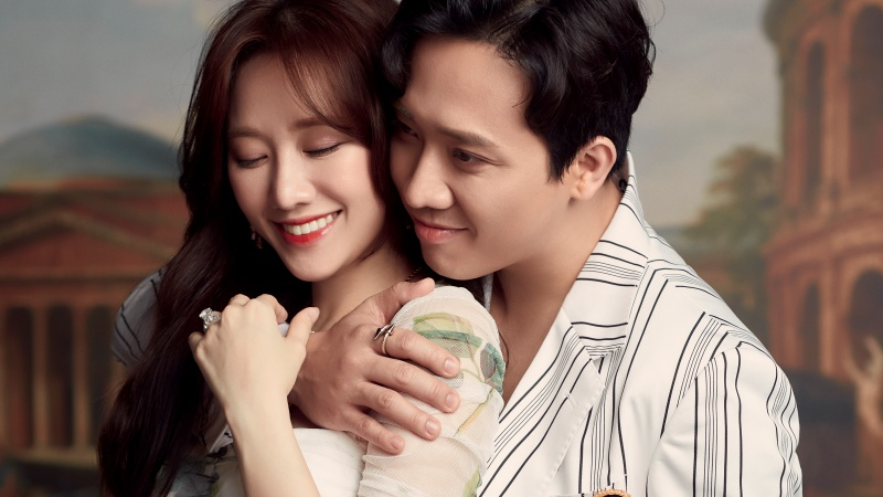 Hari Won tình tứ cùng ông xã Trấn Thành trong bộ ảnh kỷ niệm sinh nhật
