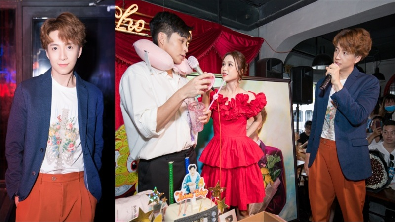 Ngô Kiến Huy hát gần 20 bài, song ca cùng Sam, Jun Phạm trong minishow mừng sinh nhật