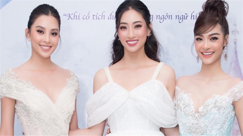 Tiểu Vy, Lương Thùy Linh, Kiều Loan 'hóa thân' thành công chúa, 'đọ' catwalk trên sàn diễn cổ tích