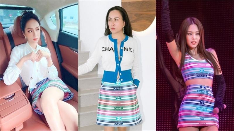 Hương Giang đụng hàng Phượng Chanel và cả dàn sao Kpop: Nhìn qua là biết ai 'chơi' nhất, có nàng còn xén váy cho ngắn sát tận đùi