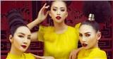 Giáng My, Hoàng Yến, Tiểu Vy rực rỡ tiến cung trong show diễn Vàng Son