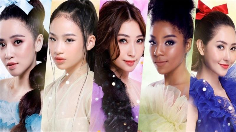 Puka, Khổng Tú Quỳnh, Tường Vi, Huỳnh Tiên,Bảo Hàlà 5 nàng công chúa cuối cùng xuất hiện trong Postershow diễn The Princess