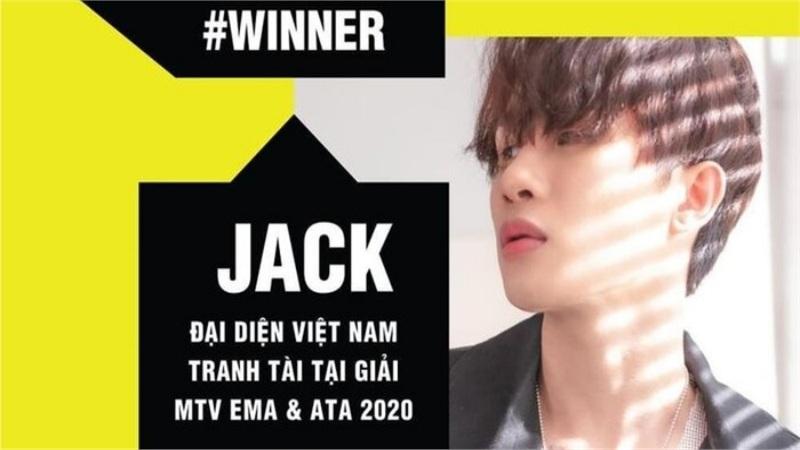 Chiến thắng loạt đối thủ 'sừng sỏ' trong nước, Jack chính thức đại diện Việt Nam tranh giải tại MTV EMA & ATA 2020