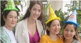Hoa hậu Phan Thị Mơ hạnh phúc đón tuổi mới ở phim trường