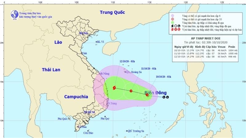 Áp thấp nhiệt đới có khả năng mạnh thêm, miền Trung mưa lớn