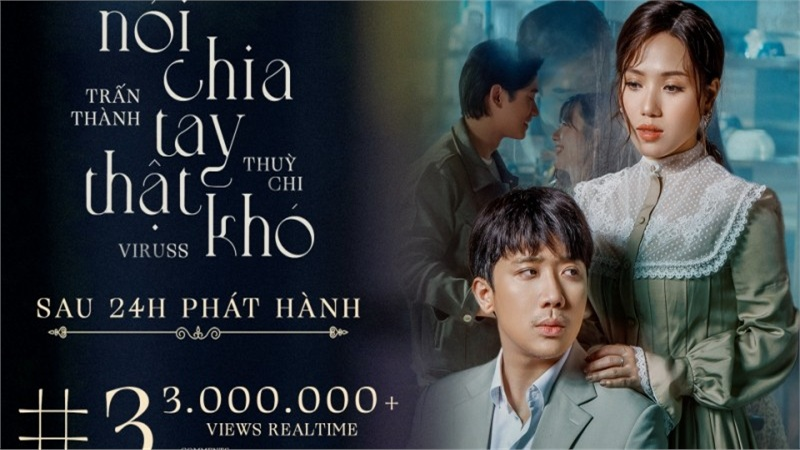 Dù nhận nhiều ý kiến trái chiều MV của Thuỳ Chi - Trấn Thành vẫn lọt Top 3 Trending YouTube, dẫn đầu iTunes Việt Nam