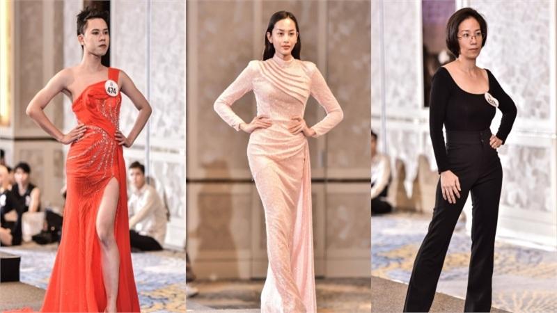 Người đẹp U40 catwalk 'chặt chém', dàn thí sinh LGBT mặc váy dạ hội 'khuấy động' buổi casting