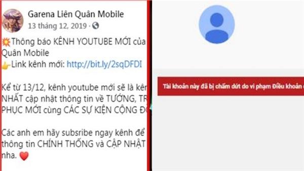 Nóng: Kênh Youtube Garena Liên Quân Mobile hàng triệu sub bất ngờ dừng hoạt động