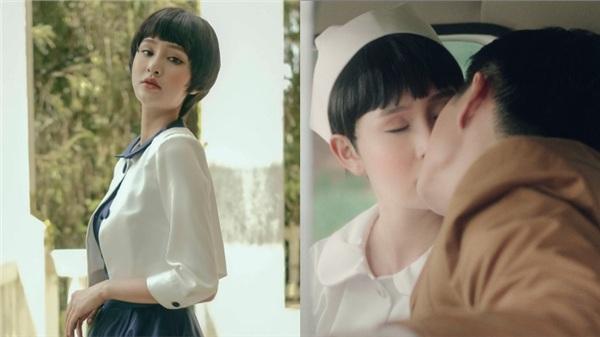 Hiền Hồ hôn đắm đuối người yêu trong MVquy tụ gần 100 diễn viên phụ