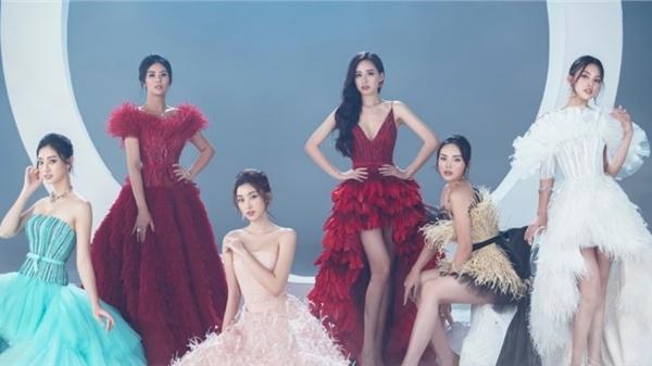 6 hoa hậu Việt Nam lần đầu đọ sắc cùng nhau trong loạt váy dạ hội của NTK Lê Thanh Hoà