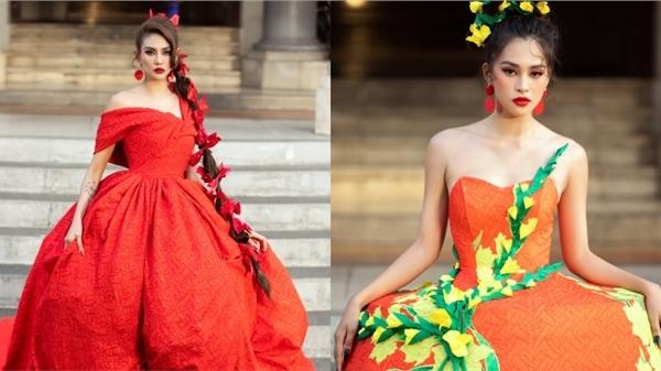 Tiểu Vy hoá công chúa mùa xuân, Võ Hoàng Yến làm nữ thần mặt trời diễn show Vũ Ngọc và Son