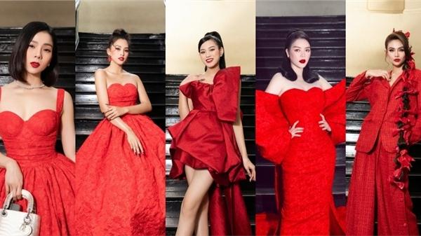 Thảm đỏ hot nhất đầu năm 2021: 'Rừng' sao Việt đồng loạt diện váy đỏ đọ sắc