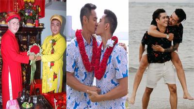 Những cặp đôi đồng tính nam về chung một nhà gây sốt mạng xã hội