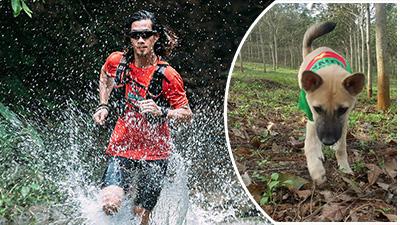 'Chàng trai của gió' và hành trình chạy bộ xuyên Việt dang dở cùng chó cưng