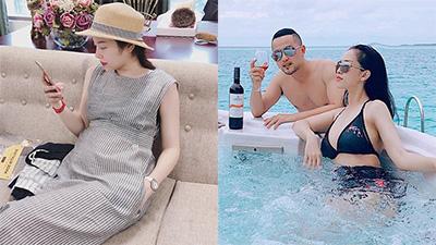 Hằng Túi khoe bụng bầu như 'Doraemon giáng trần', bà xã Việt Anh đăng status 'hối hận' đầy ẩn ý