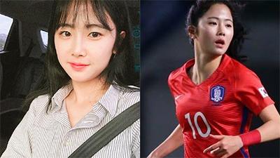'Tan chảy' với vẻ đẹp ngọt ngào của nữ cầu thủ Hàn Quốc