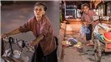 Xúc động trước bộ ảnh cụ bà 83 tuổi lưng còng đi nhặt rác đêm nuôi cháu