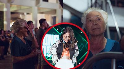 Lần đầu xem cháu gái biểu diễn, bà nội Phan Thanh Nhàn (Lộn Xộn) lặng lẽ lau nước mắt xúc động