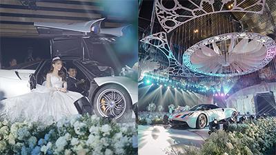 Cận cảnh không gian tiệc cưới 20 tỷ của con gái Minh Nhựa: Cô dâu được bố đưa bằng siêu xe tiến vào lễ đường