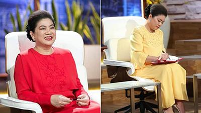 Fan hâm mộ để ý trang phục của Shark Liên khi ngồi ghế nóng Thương vụ bạc tỷ, điểm chung thú vị nằm ở màu sắc váy