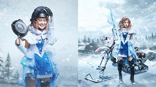 Lena 'Về nhà đi con' cosplay công chúa tuyết trong PUBG được dân tình hết lời ngợi khen