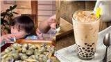 Uống trà sữa nhưng không thích trân châu, bé Sa con trai Quỳnh Trần JP 'né đạn' theo cách siêu trí tuệ