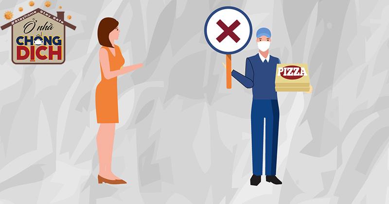 Infographic: 5 nguyên tắc chống dịch khi giao - nhận hàng hoá giữa shipper và khách mùa Covid