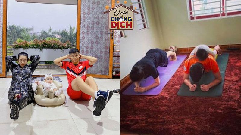 'Ác mộng' tăng cân, cầu thủ Việt vẫn chăm chỉ tập thể dục, rèn luyện sức khoẻ trong thời gian nghỉ dịch