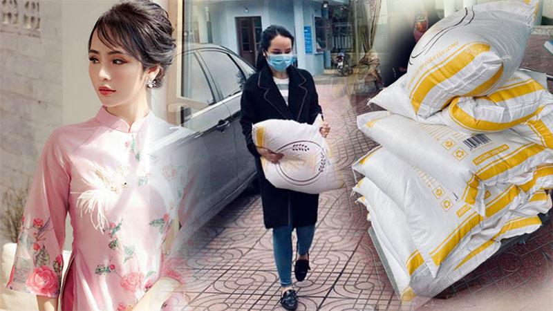 Hoa khôi Hà Thành quyên góp cả tấn gạo giúp đỡ người lao động nghèo trong mùa dịch: 'Hãy cứ sống hết lòng'