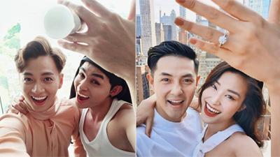 Bắt trend Đông Nhi - Ông Cao Thắng, Jun Phạm và Ngô Kiến Huy cũng thông báo 'về chung một nhà'