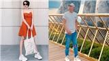 Cắt tóc ngắn cá tính, Bảo Anh diện giày đôi đi du lịch cùng Hồ Quang Hiếu?