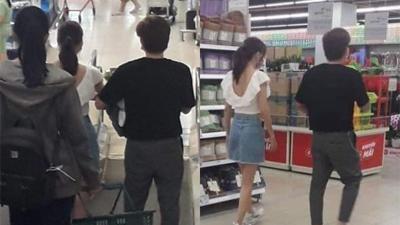 'Tình trong như đã mặt ngoài còn e': Chi Dân và Ninh Dương Lan Ngọc lại bị bắt gặp tình tứ đi siêu thị cùng nhau